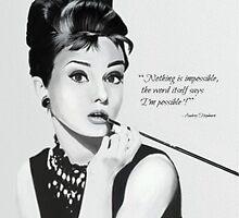Audrey Hepburn by fairyl