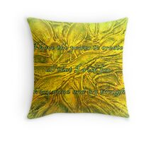 I have the power to create all that I wish for with my mind and my thoughts Throw Pillow