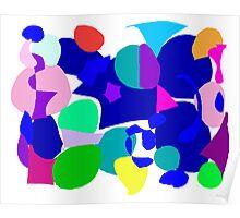Circle Play Cloud Animal Trace Fish Water Poster