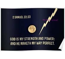 God is My Strength and Power Poster