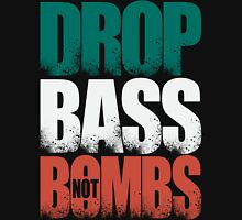 Drop Bass Not Bombs (Italy) [Stencil Series] Mens V-Neck T-Shirt