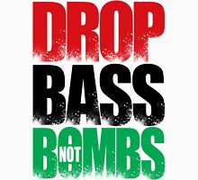 Drop Bass Not Bombs (Libya) [Stencil Series] Mens V-Neck T-Shirt