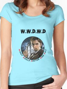 WWDWD - What Would Doctor Who Do? Women's Fitted Scoop T-Shirt