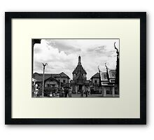 BW Thailand Bangkok The Chakri Group 1980s Framed Print