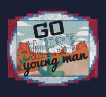 Go West, Young Man Kids Tee