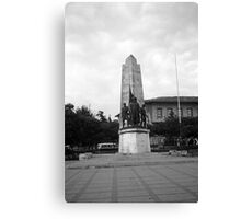 BW Turkey Istanbul Barberousse statue 1970s Canvas Print
