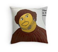 The Fed restoring Jesus Throw Pillow