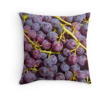Italian Red Grapes Bunch   Throw Pillow