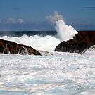Where the surf mimics the clouds by Debbie-anne