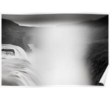 Gullfoss in black&white Poster