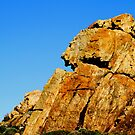 Abstract Canal Rocks - Faces in the sky by Debbie-anne