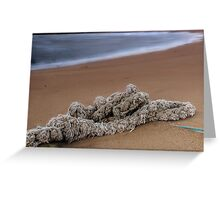 Knots on the sand Greeting Card