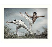 Capoeira fighter Art Print