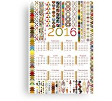 2016 Tribal Calendar Canvas Print