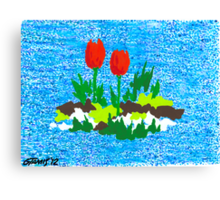 FUN WITH RED TULIPS Canvas Print