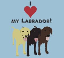 I love my Labrador. by Amanda Cleal