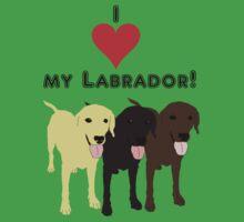 I love my Labrador. Kids Clothes