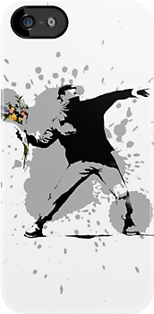 Throwing Flowers - Banksy by SkinnyJoe