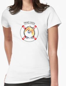Pomeranian First Mate Womens Fitted T-Shirt