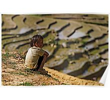 black hmong girl in the paddies Poster