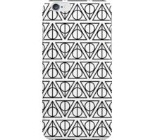 HARRY POTTER - Deathly Hallows (on white) iPhone Case/Skin