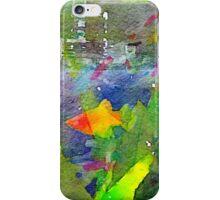 Abstract Goldfish Aquarium Watercolor 2 iPhone Case/Skin