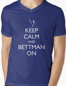 Keep Calm and Bettman On Mens V-Neck T-Shirt
