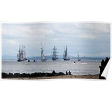 TALL SHIPS LEAVE LIVERPOOL Poster