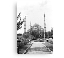 BW Turkey Istanbul The Blue Mosque 1970s Canvas Print