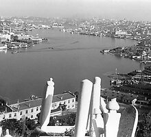 BW Turkey Istanbul golden horn river 1970s by blackwhitephoto