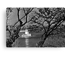 BW Turkey Istanbul view of city 1970s Canvas Print