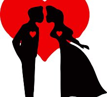 ۞»♥Romantic Love:Lovely Couples Kissing Prints, Cards & Posters♥«۞ by Fantabulous