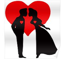 ۞»♥Romantic Love:Lovely Couples Kissing Prints, Cards & Posters♥«۞ Poster
