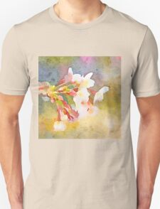 White Cherry Blossoms Digital Watercolor Painting 1 T-Shirt