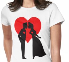 ۞»♥Romantic Love:Lovely Couples Kissing Clothing & Stickers♥«۞ Womens Fitted T-Shirt