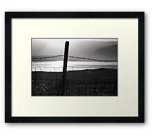 some fence Framed Print