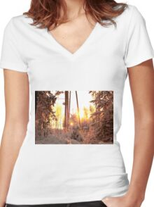 Winter on fire Women's Fitted V-Neck T-Shirt