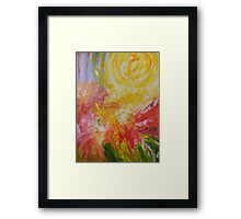 I shall paint the whole world for you mama filled with sunshine everyday Framed Print