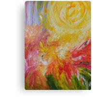 I shall paint the whole world for you mama filled with sunshine everyday Canvas Print