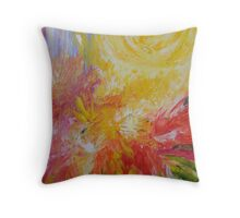 I shall paint the whole world for you mama filled with sunshine everyday Throw Pillow