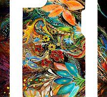 "iPhone case 3 based on my original artwork ""The Dance of Lizards"" by Elena Kotliarker"