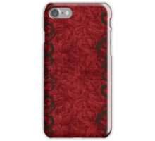 A nice red pattern with polka dots iPhone Case/Skin