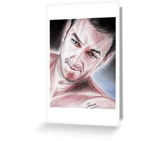 Richard Armitage's smile Greeting Card