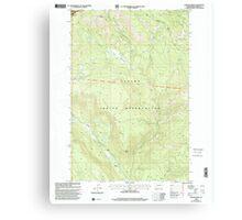 USGS Topo Map Washington State WA Fairview Ridge 241108 2000 24000 Canvas Print