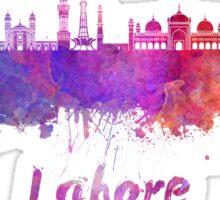 Lahore skyline in watercolor Sticker