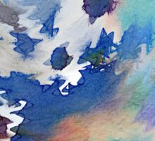 Welcome Spring Abstract Floral Digital Watercolor Painting 2 Sticker
