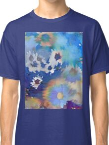 Welcome Spring Abstract Floral Digital Watercolor Painting 2 Classic T-Shirt