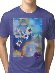 Welcome Spring Abstract Floral Digital Watercolor Painting 2 Tri-blend T-Shirt