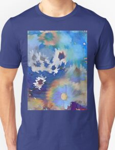 Welcome Spring Abstract Floral Digital Watercolor Painting 2 T-Shirt
