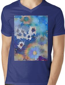 Welcome Spring Abstract Floral Digital Watercolor Painting 2 Mens V-Neck T-Shirt
